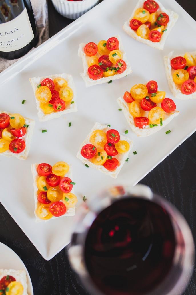 Goat Cheese Tomato Tarts | La Crema