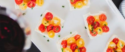 Summer Tapas Party: Goat Cheese Tomato Tarts
