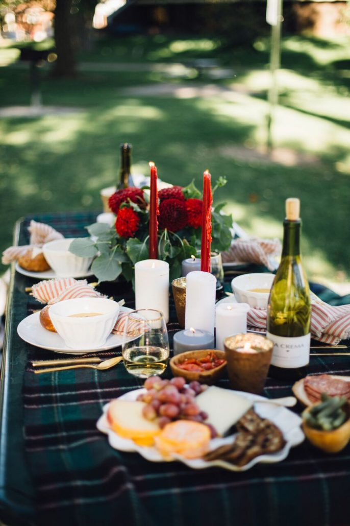 fall al fresco dinner party styling tips la crema