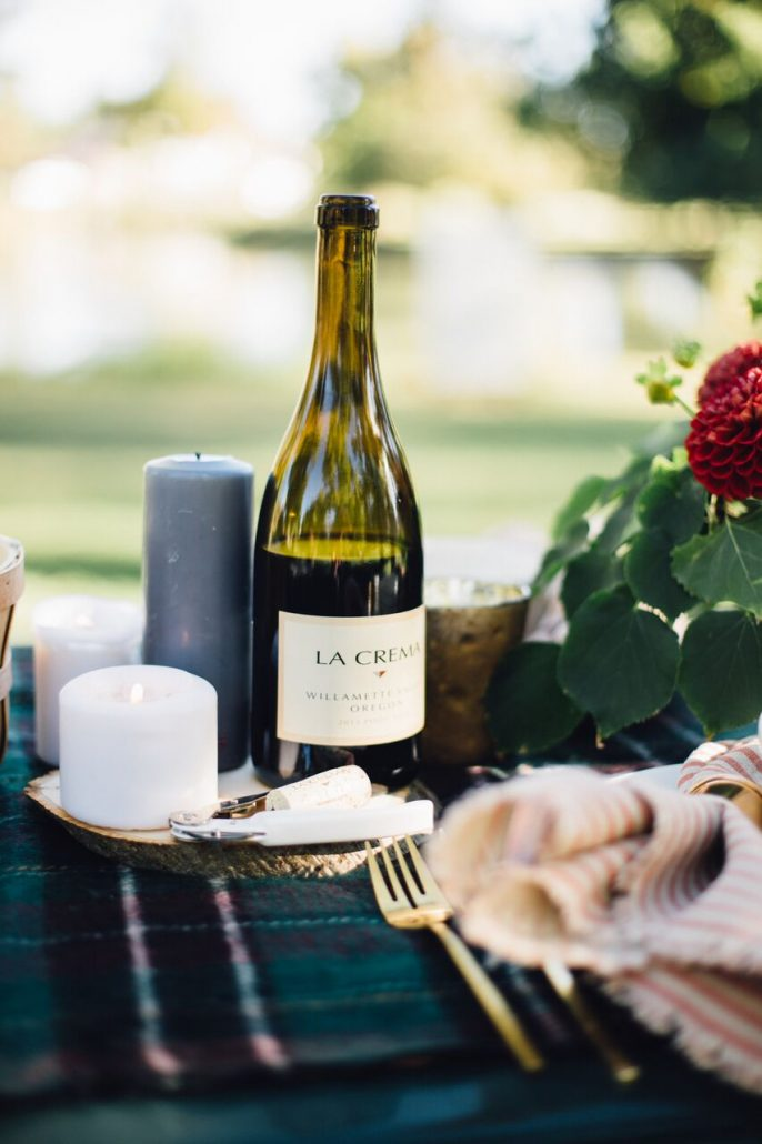 Pinot Noir, especially La Crema's Willamette Valley Pinot, is a wonderful wine to enjoy during your fall al fresco dinner party