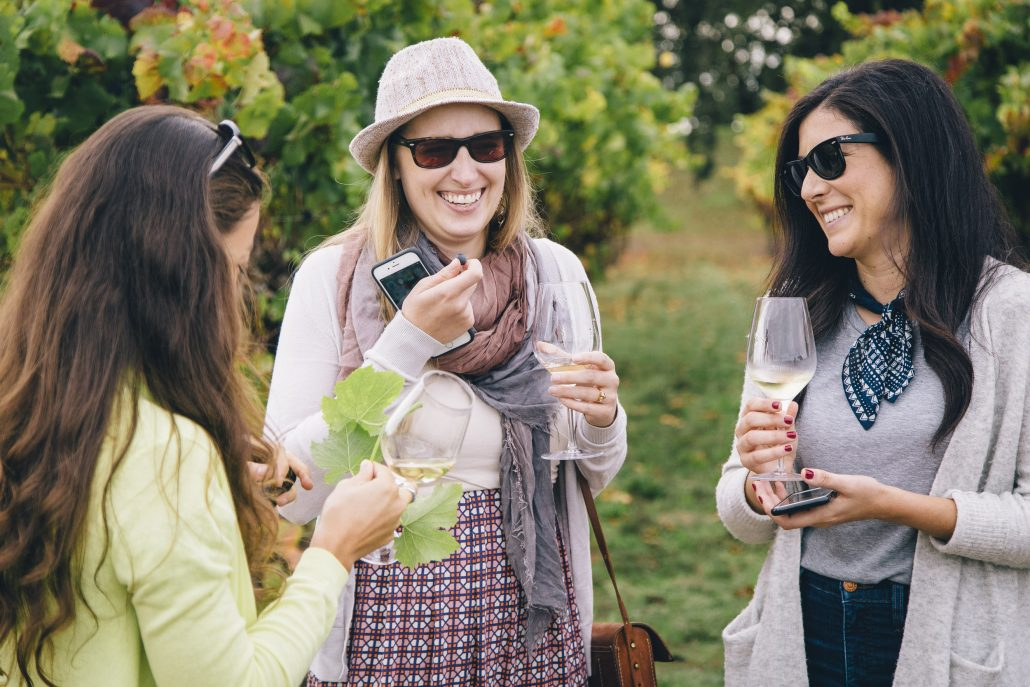 Tasting Grapes at the La Crema Estate at Saralee's Vineyard