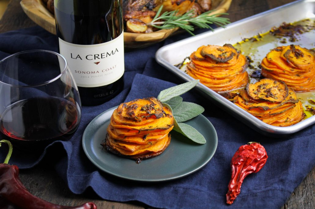 Latin Thanksgiving: Chipotle Sweet Potato Pommes Anna