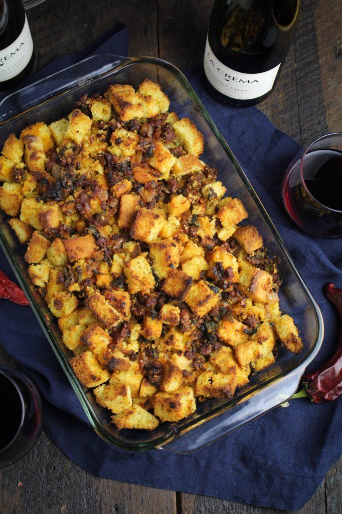 Latin Thanksgiving: Cornbread, Chorizo, Poblano Stuffing