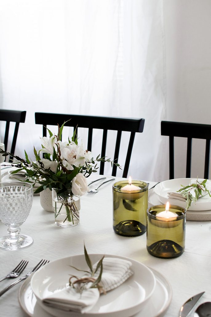 Lovely DIY Wine Bottle Floating Glass Holders to grace your holiday tables!