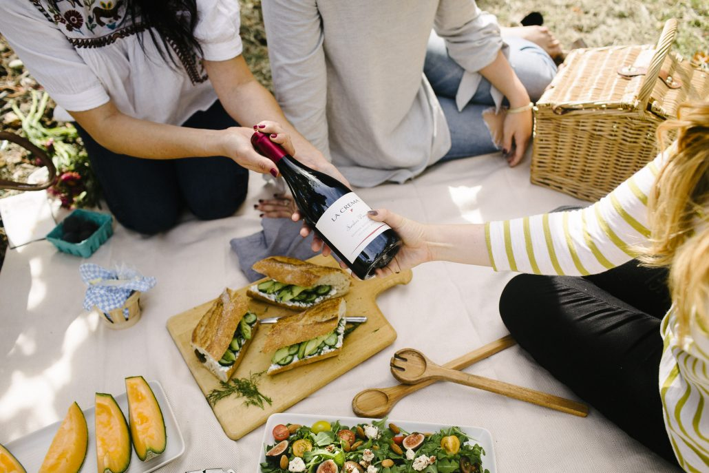 La Crema Saralee's Vineyard Pinot Noir for a Wine Country Picnic