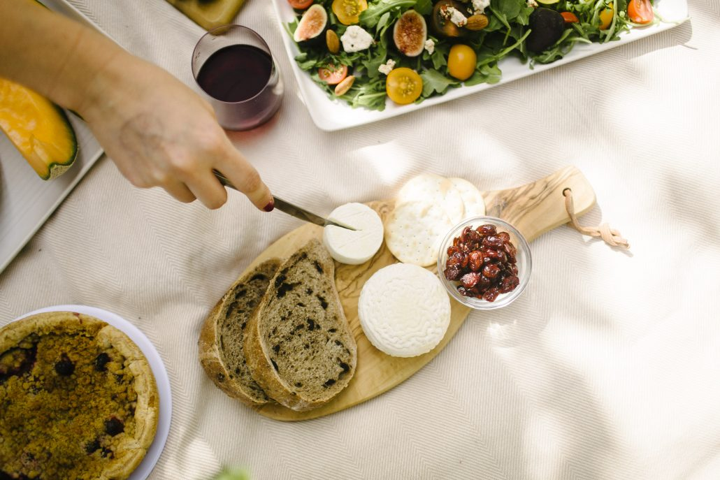 What would a wine country picnic be without bread and cheese?
