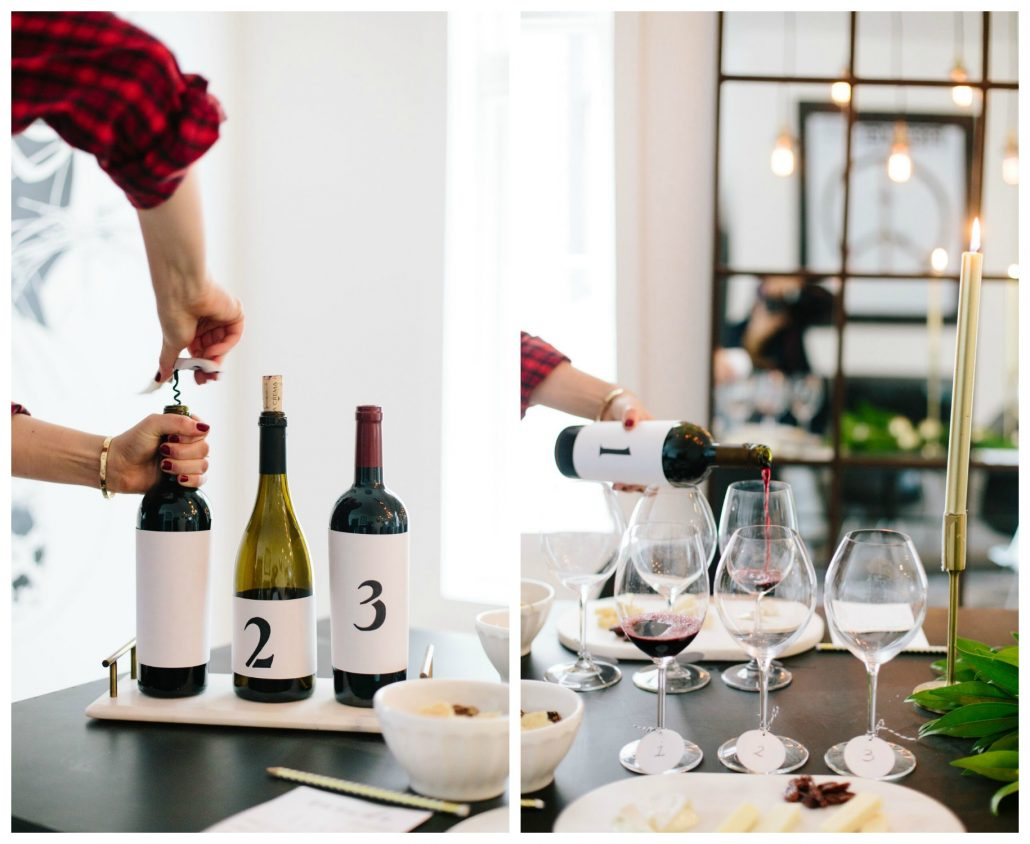 DIY numbered labels to hide the wine labels for your blind wine tasting