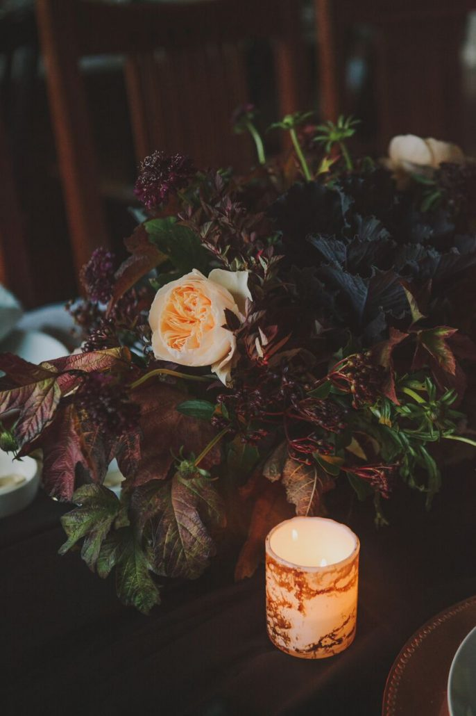 A lovely fall centerpiece for Friendsgiving celebrations.