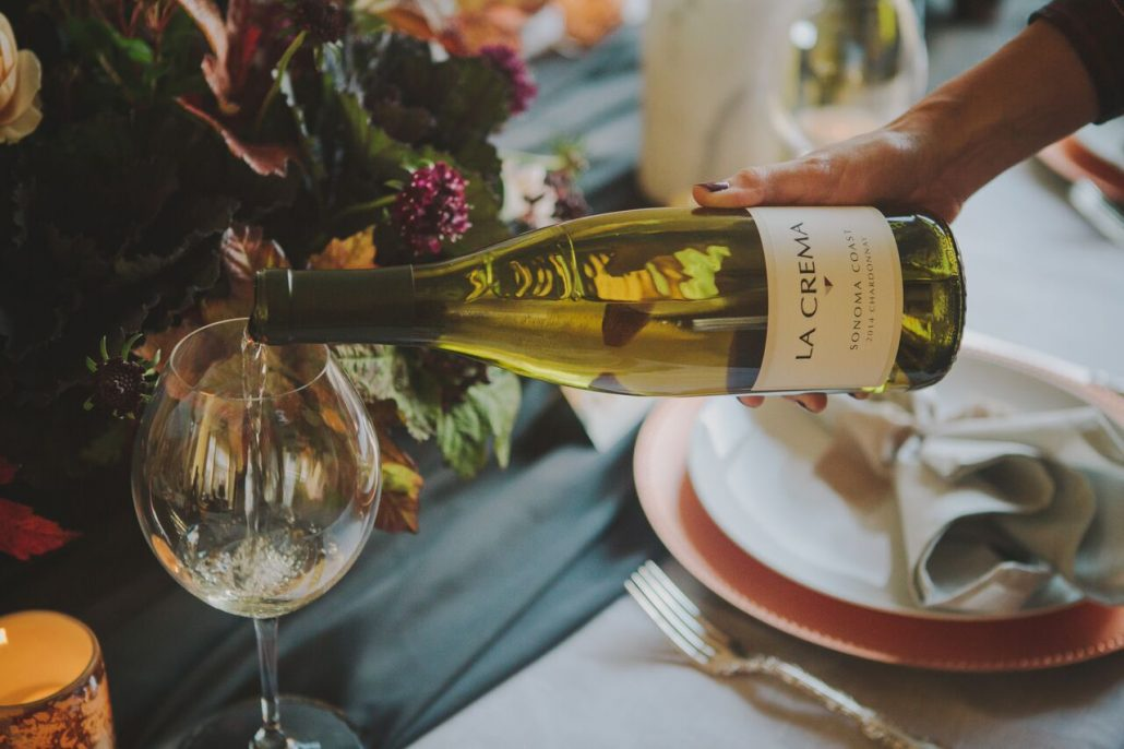 Pour Sonoma Coast Chardonnay at your Friendsgiving feasts