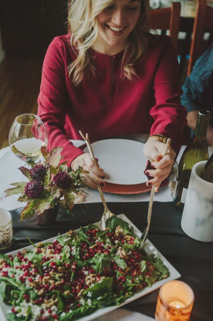 Always include some greens with your Friendsgiving feast to cut the richness of the sides.