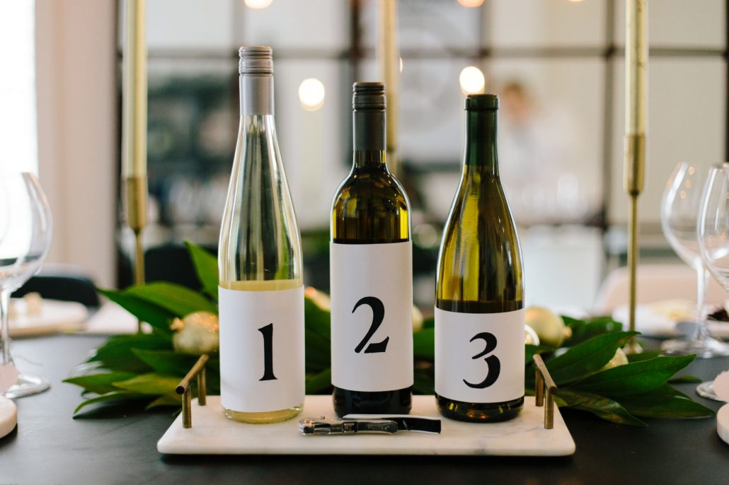 Blind wine tasting tip: Use stenciled label covers for your wines.