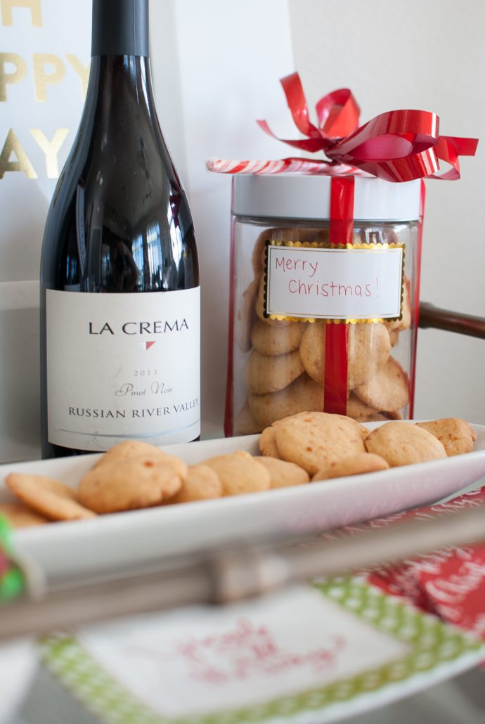 Cheese Biscuits, a Southern favorite and a great hostess gift with a bottle of wine.