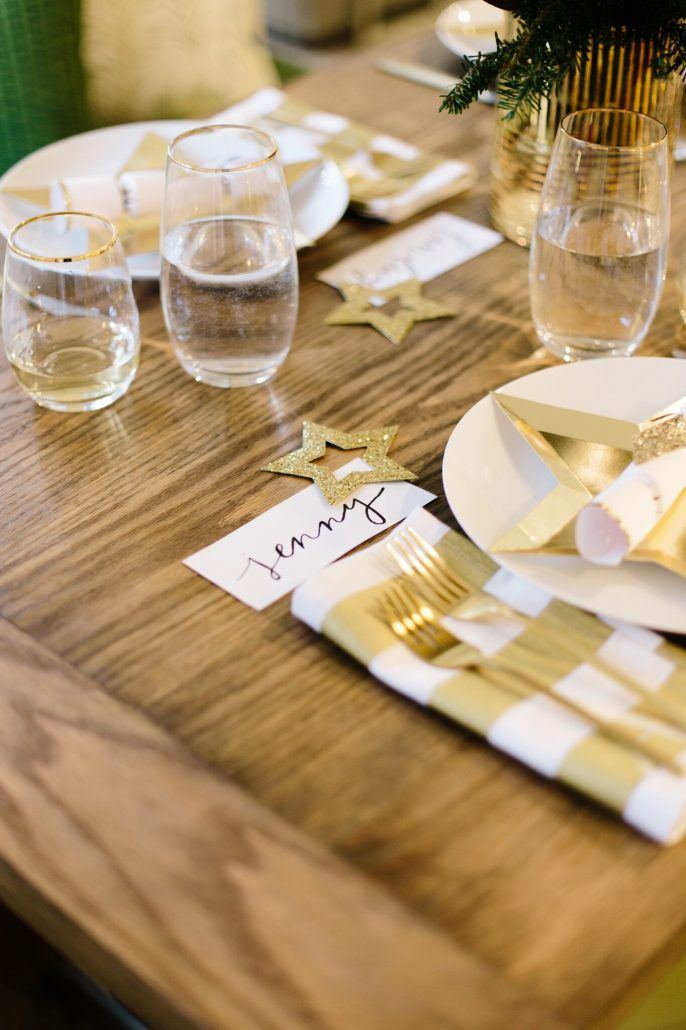 Place setting for New Year's Day Brunch