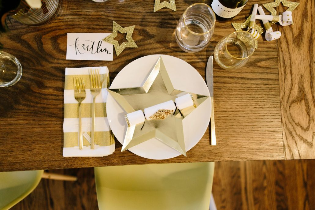 The perfect placesetting for a New Year's Day Brunch