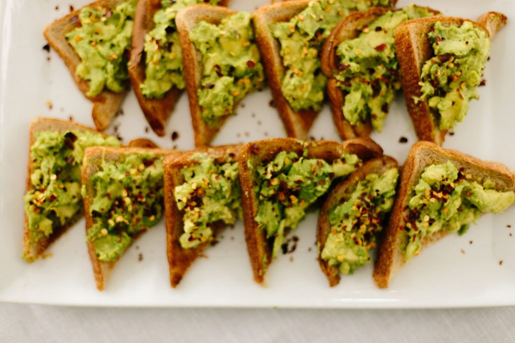 Spicy Avocado Toast for New Year's Day Brunch