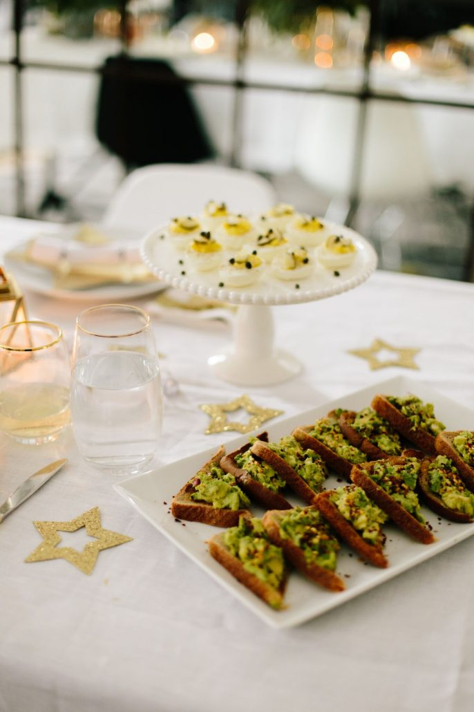 Deviled Eggs and Spicy Avocado Toast for a New Year's Day Brunch