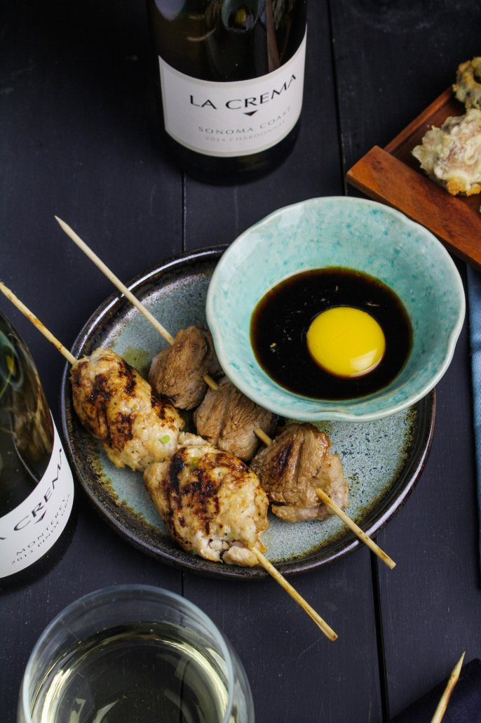 Tsukune and Miso Pork Skewers