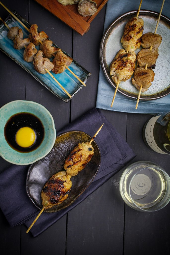 Japanese Izakaya featuring Tsukune: Chicken Meatballs