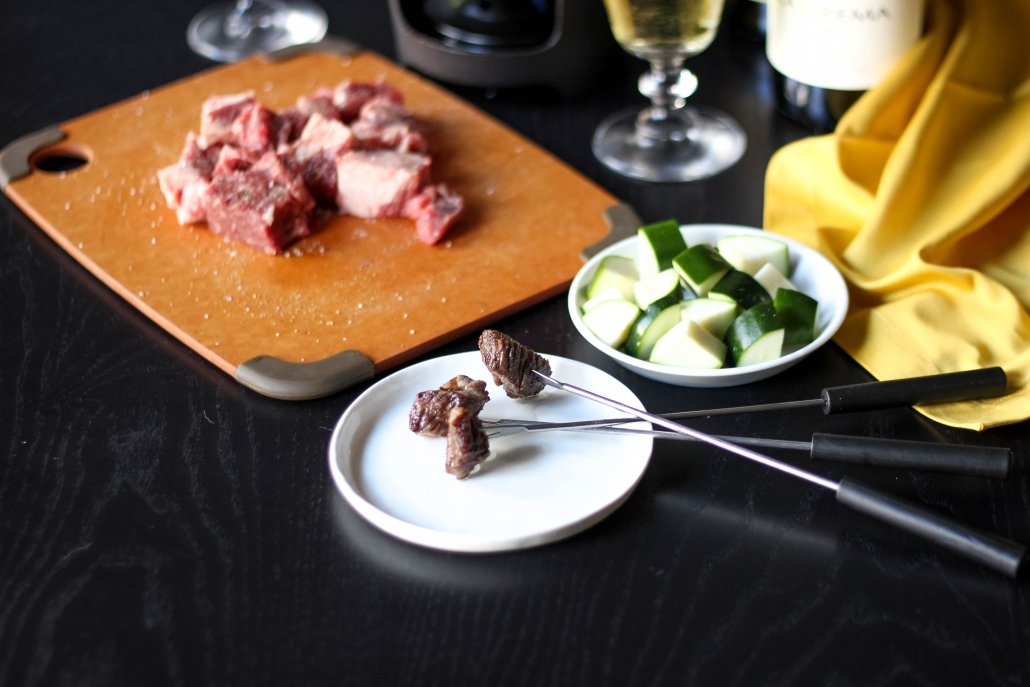Meat for an oil fondue