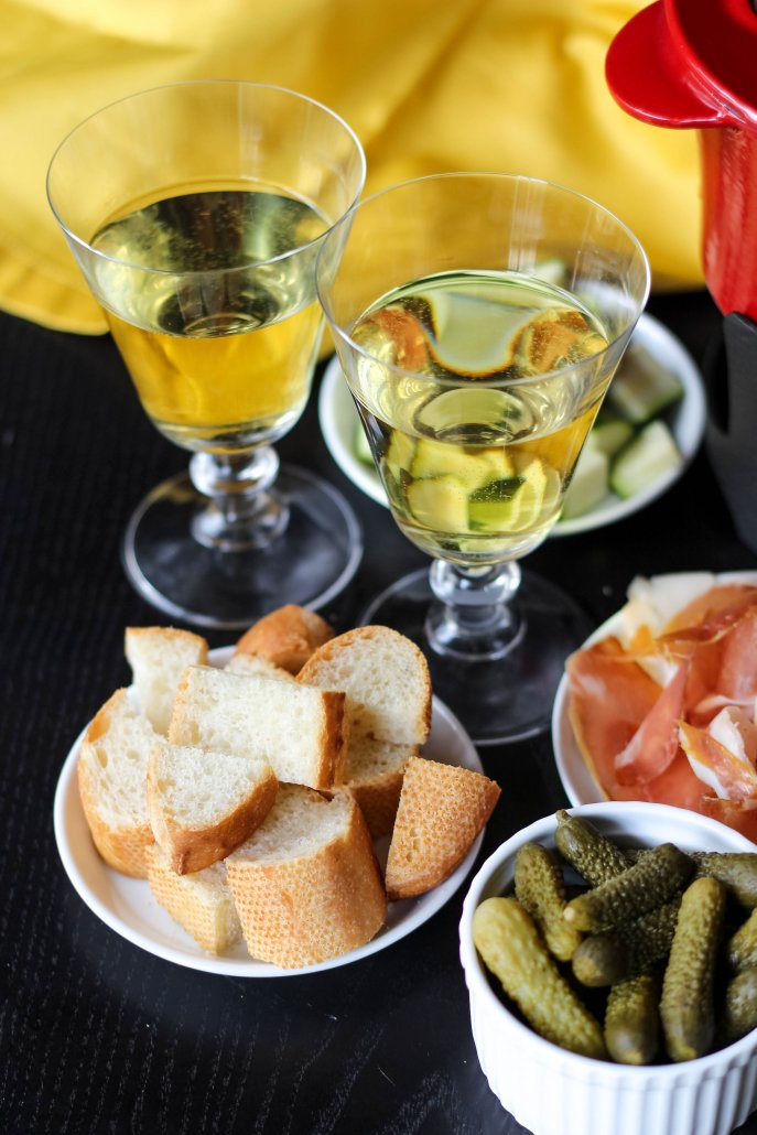 Monterey Chardonnay or Pinot Gris work well with cheese fondue and oil fondue