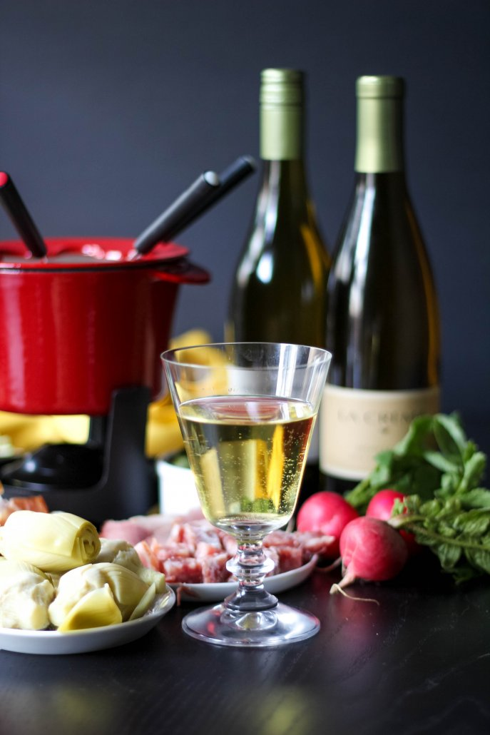 Wine, cheese and fondue! What could be better?