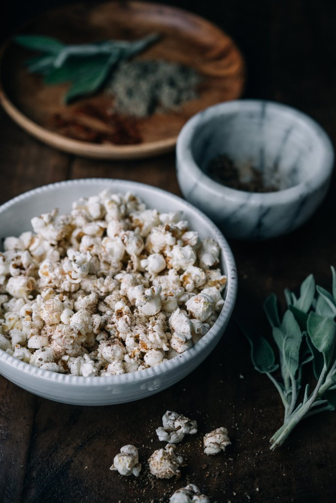 Spiced Popcorn: Sage and Chipotle