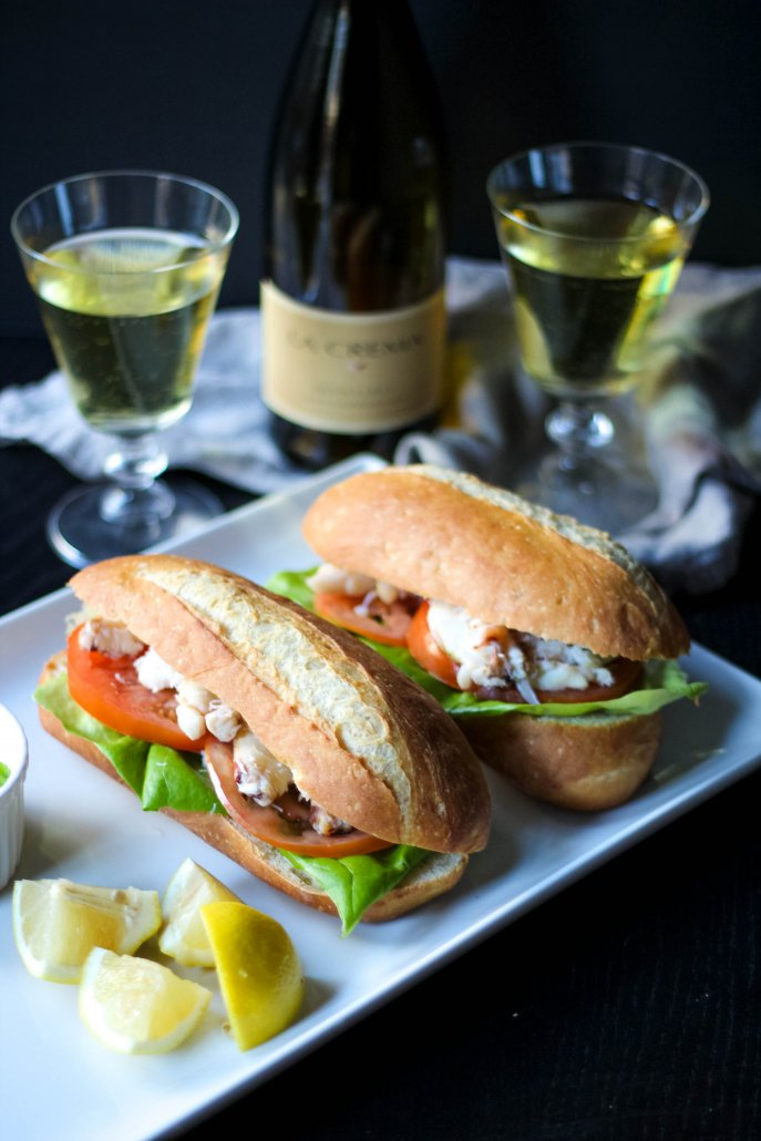 Fresh Dungeness Crab Sandwich paired with La Crema Monterey Chardonnay
