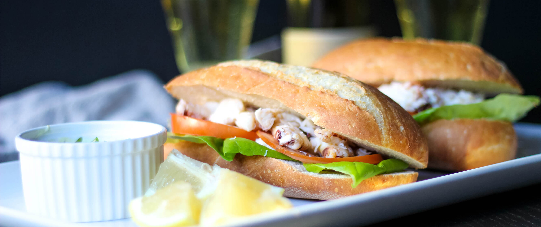 Fresh Dungeness Crab Sandwich - La Crema