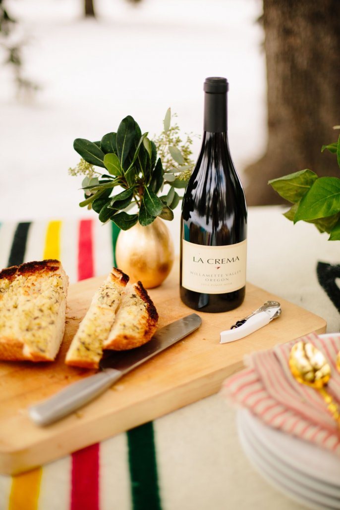 Cheesy Garlic Bread for a Winter Wonderland Party