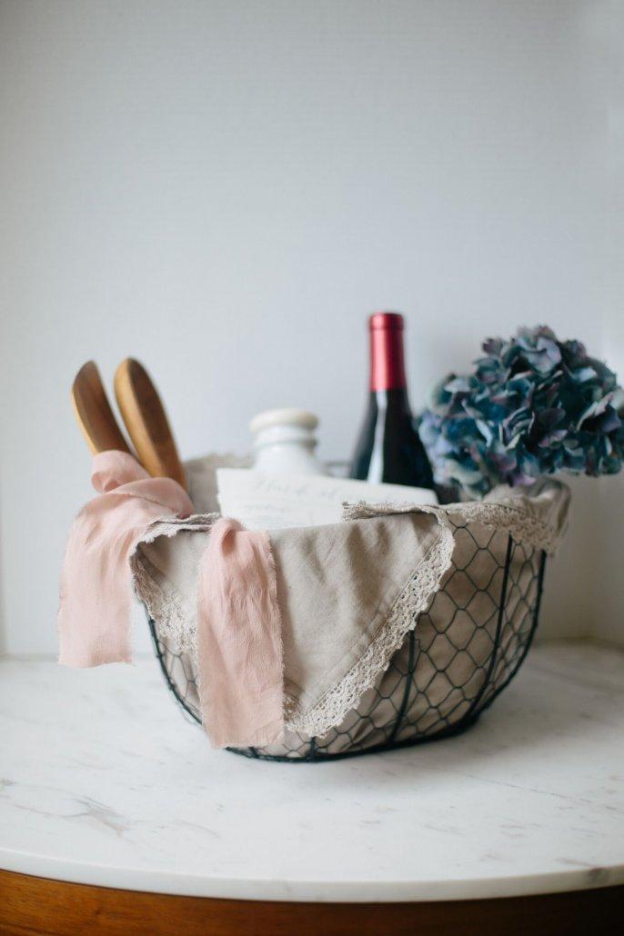 DIY Recipe Kit for Valentine's Day for Fleur de Sel Caramels with a bottle of La Crema Sonoma Coast Pinot Noir