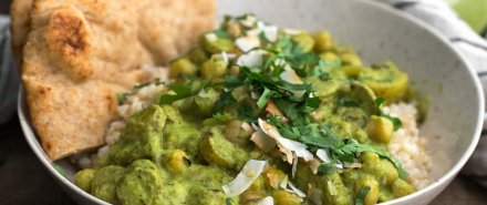 Green Chickpea Curry with Potatoes hero image