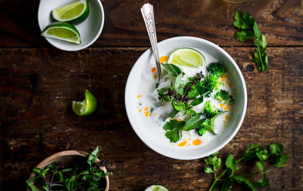 Thai Coconut Vegetable and Noodle Soup