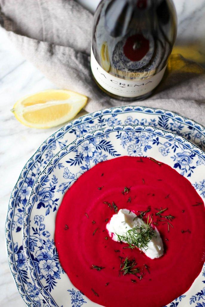 Roasted Beet and Yogurt Soup
