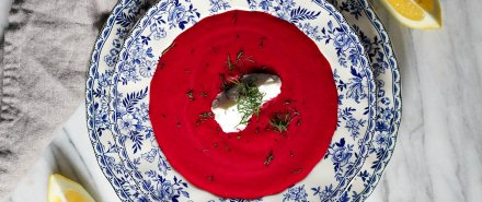 Roasted Beet and Yogurt Soup