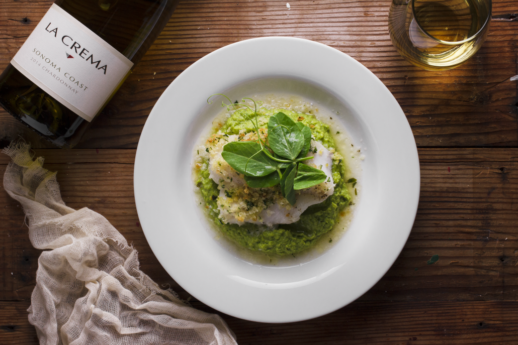 Spring Recipes Roundup: Herb-Crusted Cod with Pea Purée