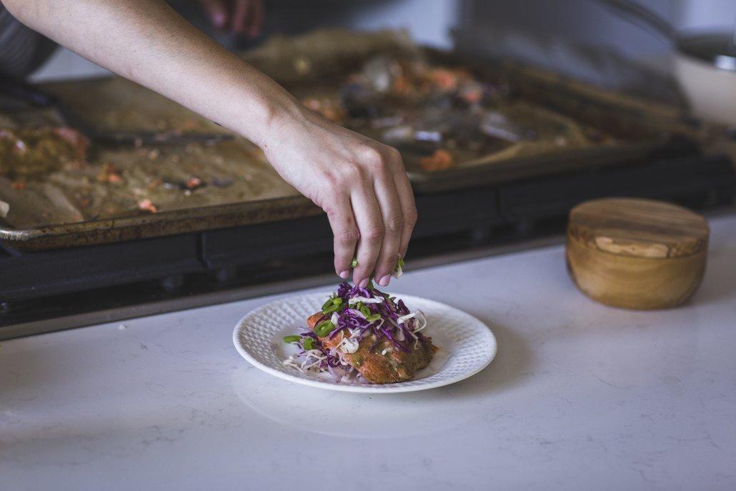 Spring Recipes Roundup: Honey Mustard Glazed Salmon with Spring Slaw