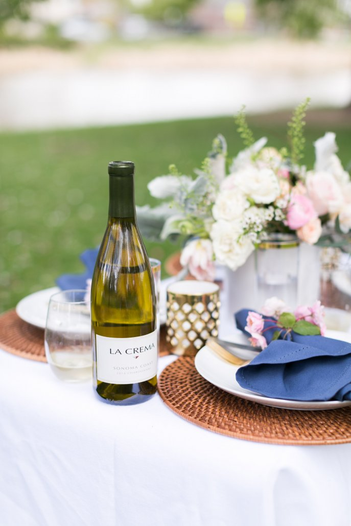 La Crema Chardonnay and Pinot Noir is always a good choice for a spring picnic