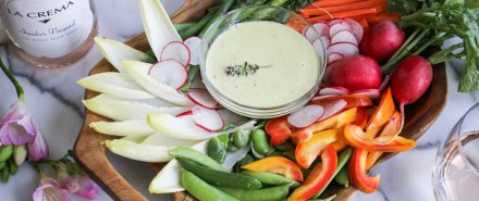 Cooking French with Rosé: Spring Crudites with Herbed Aioli