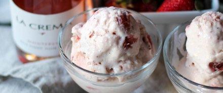 Sweet Treats: Strawberry Rhubarb Ice Cream hero image