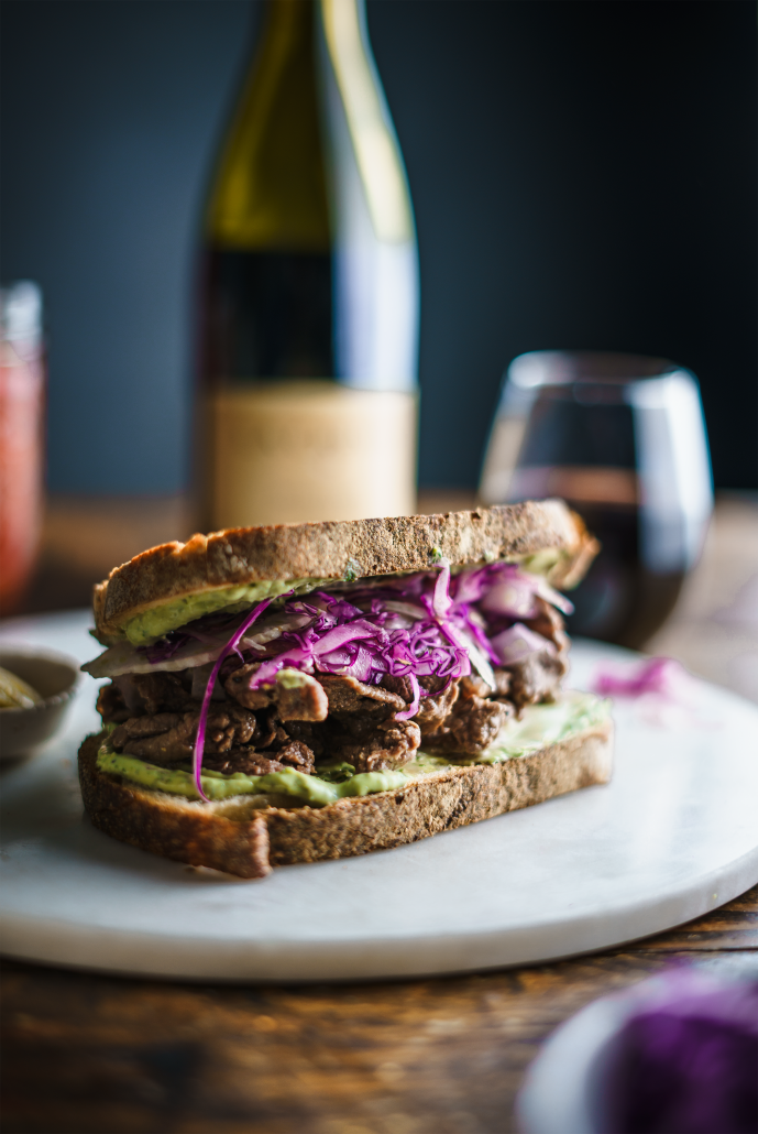 Steak Sandwich with Basil Mayo