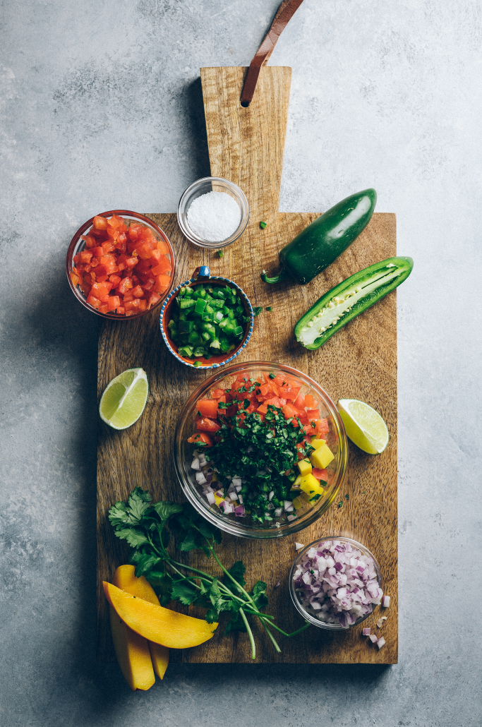 Ingredients to create the best fish tacos