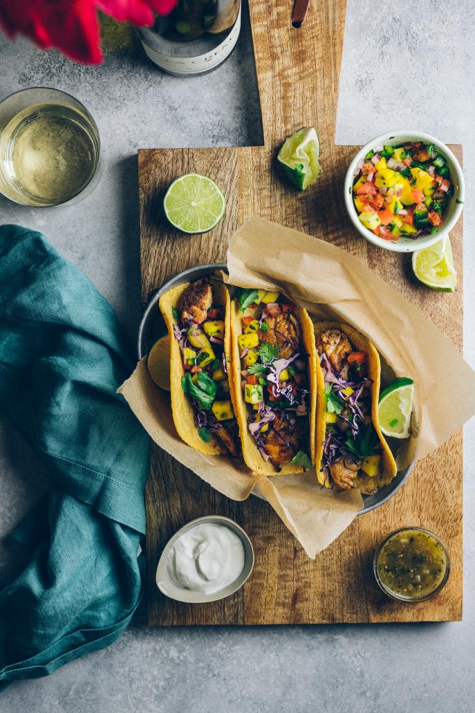 Fish Tacos With Mango Pico De Gallo