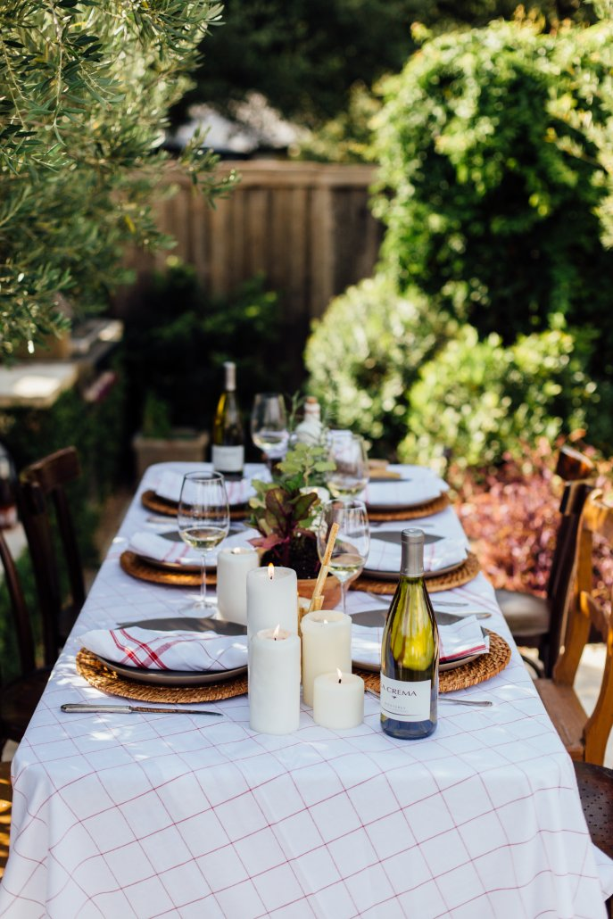 Tuscan Dinner Party featuring La Crema Monterey Chardonnay, hosted by Camille Styles