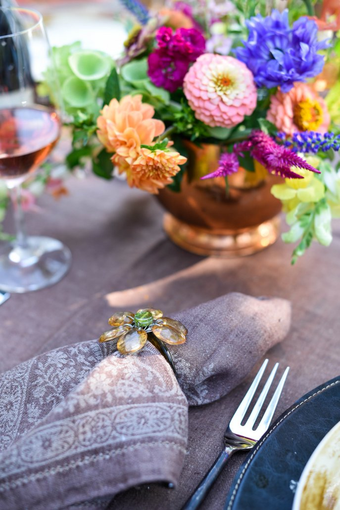 Tablesetting for a Woodland Dinner Party