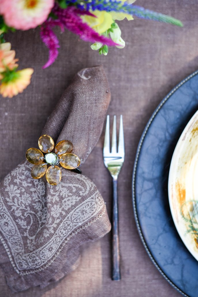 Linens for a Woodland Dinner Party