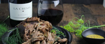 Scandinavian Dinner: Mustard and Thyme Pulled Leg of Lamb