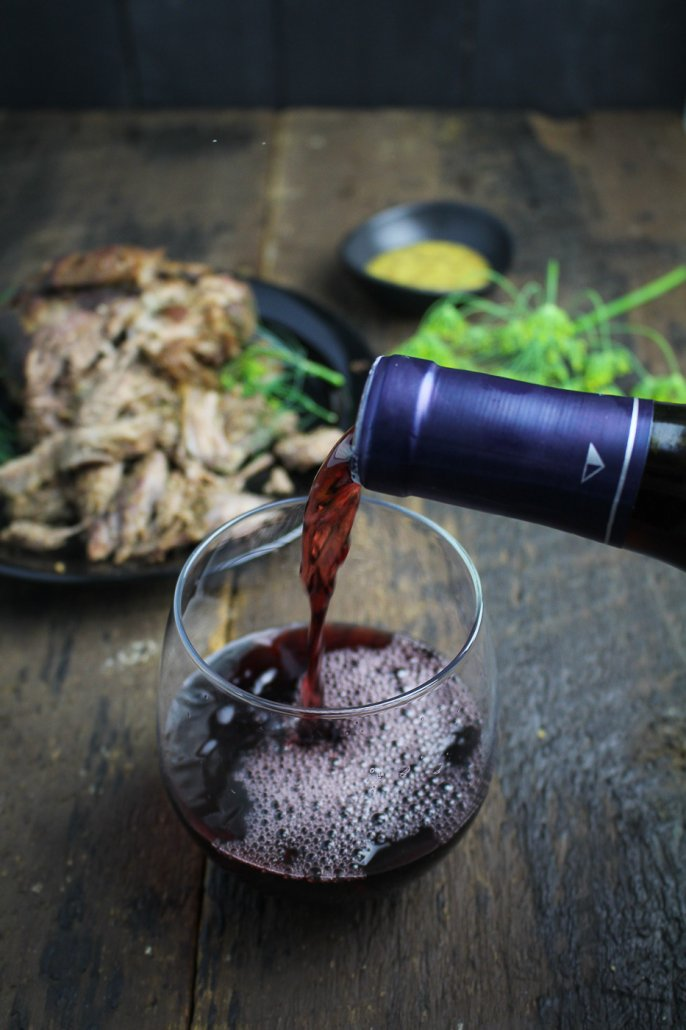 Monterey Pinot Noir to pair with Mustard and Thyme Pulled Leg of Lamb
