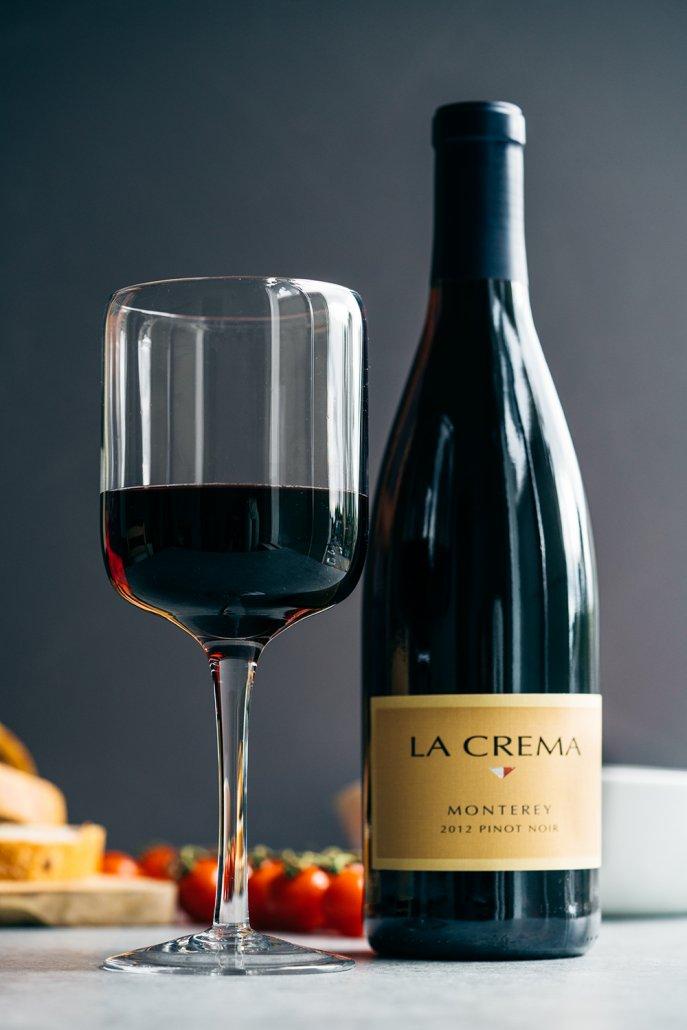La Crema's Monterey Pinot Noir to pair with this beef tenderloin panzanella salad