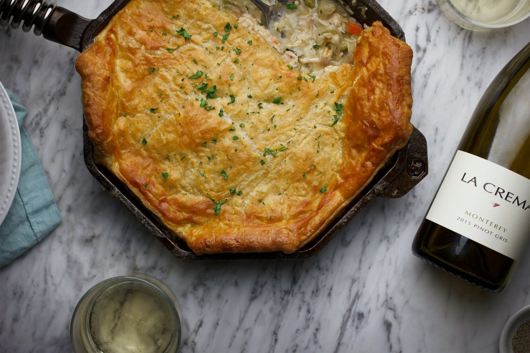 Flavors of Fall: Skillet Chicken Pot Pie