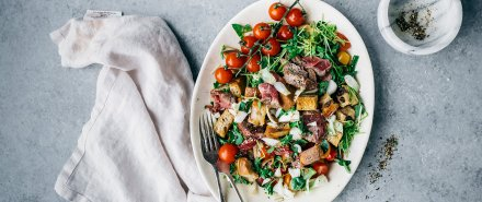 Hearty Beef Tenderloin Panzanella Salad